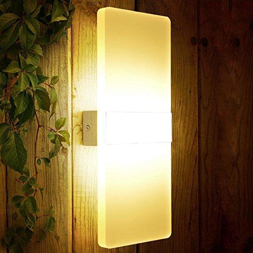 SAILUN® 12W LED Warmweiß Wandleuchten Innen aus Kreative Spiegelleuchte Badlampe Wandleuchte Badleuchte Wohnzimmer Schlafzimmer Arbeitszimmer Hotel Wasserdicht Stil (Weiße Seite)