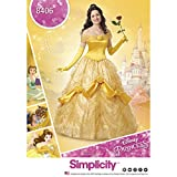 Simplicity 8406 Disney Beauty and the Beast Costume pour femme, papier, Blanc, 22 x 15 x 1 cm