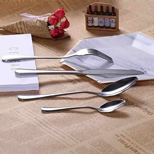 ngshanquzhuyu Besteck-Set, Edelstahl, poliert, Besteck-Set, Gabel, Suppenlöffel, Dessertlöffel, Geschirr-Set - Naturfarben (Kit Travel Utensil)