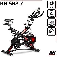 Preisvergleich für BH Fitness SB 2.7 H9174F – Indoorbike/Indoorcycling - 22kg Schwunggewicht/ PoliV-Riemen/ LCD-Monitor