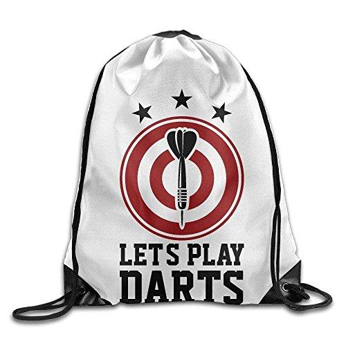 Let's Play Darts mit Dartscheibe, Turnbeutel mit Kordelzug