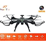 SuperToy(TM) 2.4G 4 Channel 6 Axis 360 Degree Gyro Remote Control Explorers 2 Headless Quadcopter With Camera Color Black