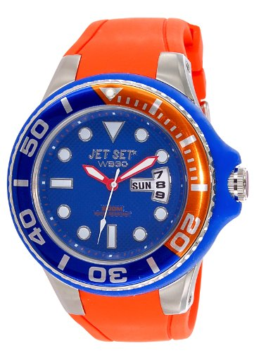 Jet Set – J55223-11 Wb30 Diver – Watch Men – Quartz – Analogue – Blue Dial Orange Rubber Strap