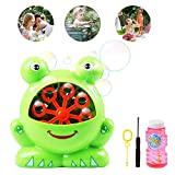 Ballery Bubble Machine Automatic Frog Bubble Maker, High Output Portable Ideal Toys