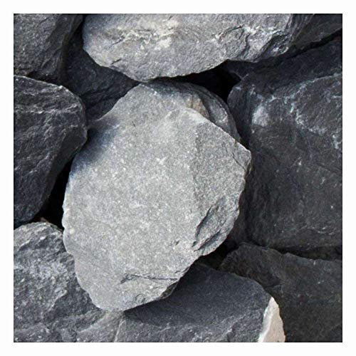 zierkiesundsplitt Canadian Slate Anthrazitgrau/Schwarz Gabionensteine Bruchsteine 1000kg Big Bag 60-180mm