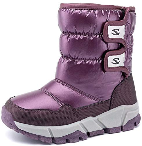 GUBARUN Kids Winter Snow Boots Boys Girls Warm Waterproof Walking Fur Lined Shoes