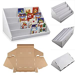 Multiware 4 Tier Cardboard Display Stands Greeting Card