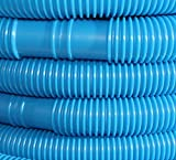 Doubleyou Geovlies & Baustoffe 10 Meter Poolschlauch, blau, 32mm, alle 100cm teilbar