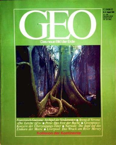 GEO Magazin 1985, Nr. 08 August - Kollision der Kontinente