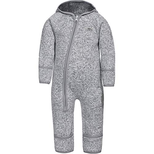 Trespass Amberjack, Grey Marl, 6/9, Ganzkörper Fleece Anzug mit Reißverschluss auf ganzer Körperlänge für Kleinkinder, Grau, 6-9 Monate -