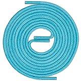 LACCICO Finest Waxed Laces® Durchmesser 2 mm Runde Dünne Elegante Gewachste Schnürsenkel Länge: 180 cm Farbe: Türkis