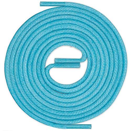 LACCICO Finest Waxed Laces® Durchmesser 2 mm Runde Dünne Elegante Gewachste Schnürsenkel Länge: 120 cm Farbe: Türkis