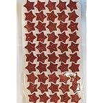 KRAFTZ® Glitter Foam Eva Star Shape Stickers, Self Adhesive For Kids Art & Craft, Decorating Cards and Models - RED