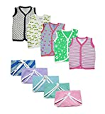 #9: Babilav New Born Baby Dress Hosiery Cotton Jabla Clothing with Jabla(5) and langot(5)(0-3 months)(Set of 5)
