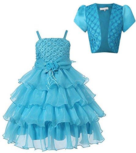 Prinzessin Mädchen Perlen Spitze langes Kleid Schal Satz zwei Röcke der Kinder. (Perlen-spitze-rock)
