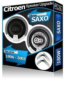 citro n saxo porte avant orateurs fli 13 3 cm kit haut parleur de voiture 13 cm 180 w. Black Bedroom Furniture Sets. Home Design Ideas