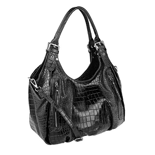 OBC Only-Beautiful-Couture, Borsa tote donna marrone cognac 40x26x16 cm (BxHxT) nero