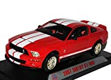 Ford Mustang V 1. Generation Shelby GT-500 Rot mit Weißen Streifen 2007 2004-2009 1/18 Shelby Collectibles Modell Auto