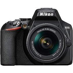 Nikon D3500 + AF-P 18-55 Kit d'appareil-Photo SLR 24,2 MP CMOS 6000 x 4000 Pixels Noir - Appareils Photos numériques (24,2 MP, 6000 x 4000 Pixels, CMOS, Full HD, 365 g, Noir)