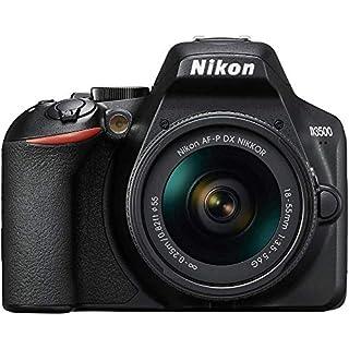 "Nikon D3500 - Cámara réflex de 24.2 MP (DX, CMOS, montura F, ISO 100-25600, USB, LCD TFT de 3.2"", botón AE-L/AF-L, CPU,modo automático) - kit con objetivo 18/55, color negro (B07H36G5C8)   Amazon price tracker / tracking, Amazon price history charts, Amazon price watches, Amazon price drop alerts"
