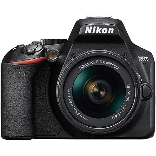 Nikon D3500 - Cámara Réflex, Kit con Objetivo 18/55, 24.2 MP, DX, CMOS, montura F, ISO 100-25600,...