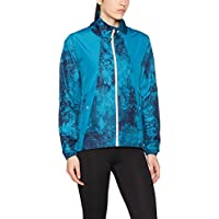 Under Armour, Intl Printed Run Jacket, Giacca, Donna, Blu (Bayou Blue/Cape Coral/Reflective 953), M