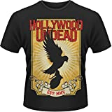 Picture Of Plastic Head Men's Hollywood Undead Golden Dove Banded Collar Short Sleeve T-Shirt