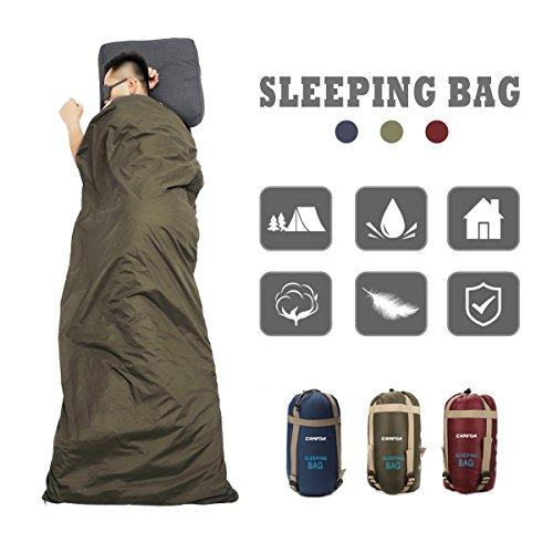 CAMTOA Portatile Impermeabile Busta Sacco a Pelo, Ultra Leggero Sacchi a Pelo Sleeping Bag per Campeggio Arrampicata All\'aperto
