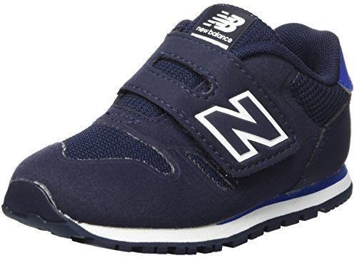 New Balance Unisex-Kinder Sneaker, Blau (Navy), 25.5 EU (8 UK Child) (Schuh Navy Velcro Casual)