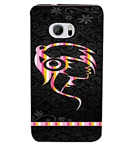 PrintVisa Girly Punk Headphones Music 3D Hard Polycarbonate Designer Back Case Cover for HTC One M10