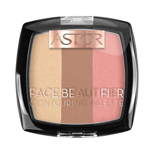 Astor Face Beautifier Contouring Palette, Make-Up,Farbe 002 Medium, 1er Pack (1 x 9 g)