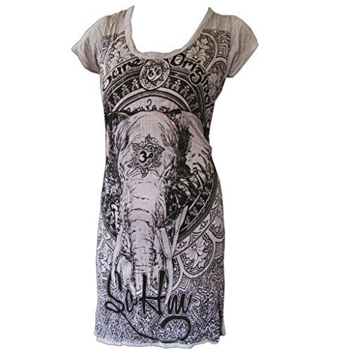 Sure - Túnica con motivo de elefante, 100% de lana, tallas S, M y L, edición limitada gris 38