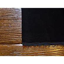 Pre Cut un metro de piezas de Negro algodón Tela de terciopelo costura