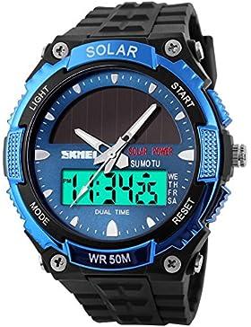 Männermode solar-Uhren/ wasserdi