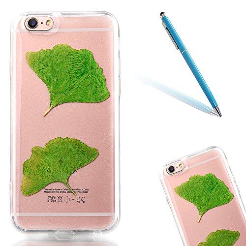 """iPhone 6sPlus Schutzhülle, iPhone 6Plus Soft TPU Handytasche, CLTPY Modisch Durchsichtige Rückschale im Getrocknete Blumenart, [Stoßdämpfung] & [Kratzfeste] Full Body Case für 5.5"""" Apple iPhone 6Plus/ Flower 23"""