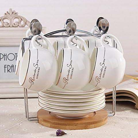 MSRRY Caffè in ceramica tazza di tè set regalo di esclusivi bone china Tazza da caffè , la Phnom Penh 6 pezzi a sfera