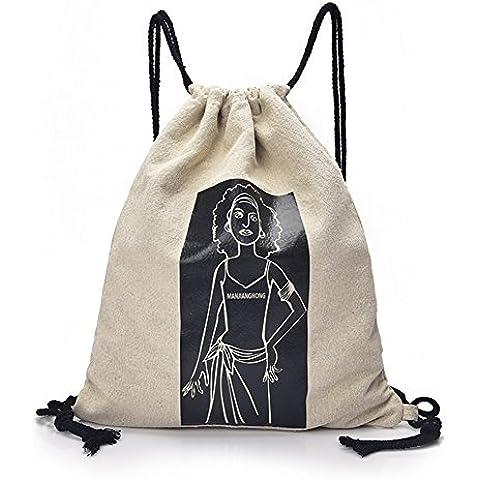 Unisexo Hombre Mujer Clasico gimnasio Backpack Rucksack Mochila Escolar para Uso Diario /Escolar/Oficina/viajes/Calle/gimnasio/ Mochila de