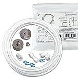 Wasserzulaufleitung Universal Anschluss-Set für Kühlschrank Side by Side. Wasserschlauch 6,4mm(1/4″) - 2