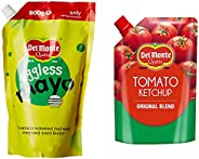 Del Monte 950gm tomato ketchup original blend and Del Monte Eggless Mayonnaise 1kg
