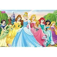Tendencias Princesas Disney Póster Amazing Grupo Princess raras Hot 22x 34pulgadas
