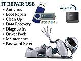 Tech Store On Es Computer Repair–ANTIVIRUS Recovery Passwort Reset PC Reparatur Treiber Bootfähig Boot USB Flash Stick