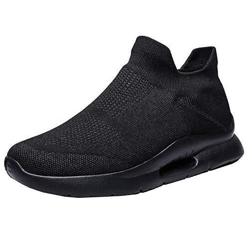 QQFLRB & Estate Casual Uomo Scarpe Traspiranti Sneaker Casual Light Tide Scarpe da Uomo Assorbenti Il Sudore Scarpe da Uomo Designers HH-316 Nero 10.5