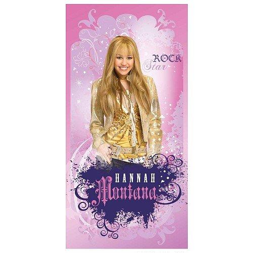 Hannah Montana Strandtuch (Herding 614466516 Velourshandtuch Hannah Montana 75 x 150 cm)