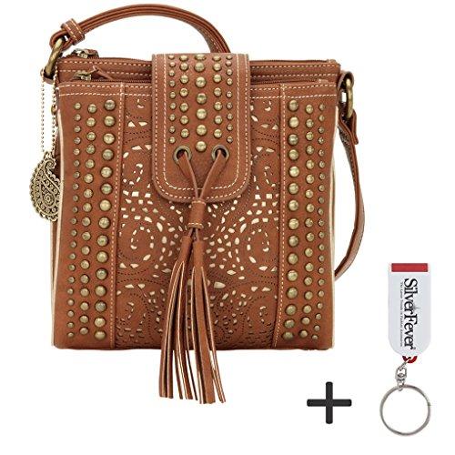 american-west-bandana-multicompartment-crossbody-organizer-handbag-tan-gold
