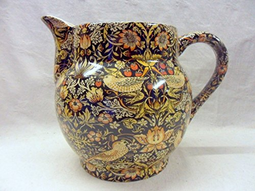 William Morris Strawberry Thief Large Dutch Jug By Heron Cross Pottery