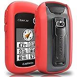 TUSITA Cas pour Garmin eTrex 10 20 30 20X 30X - Housse de Protection en Silicone Peau - Navigateur GPS Portable Accessoires (Rouge)