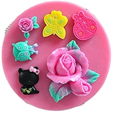 SaySure - Easy to clean soft silicone bowknot and flower mold