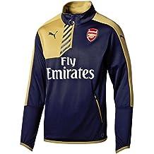 2015-2016 Arsenal Puma Quarter Zip Training Top (Navy) - Kids