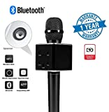 Twogood Powerful Portable Q7 Bluetooth Wireless Handheld Karaoke Microphone With Condensor and Speaker for KTV (1 Year Warranty, Assorted Colour)