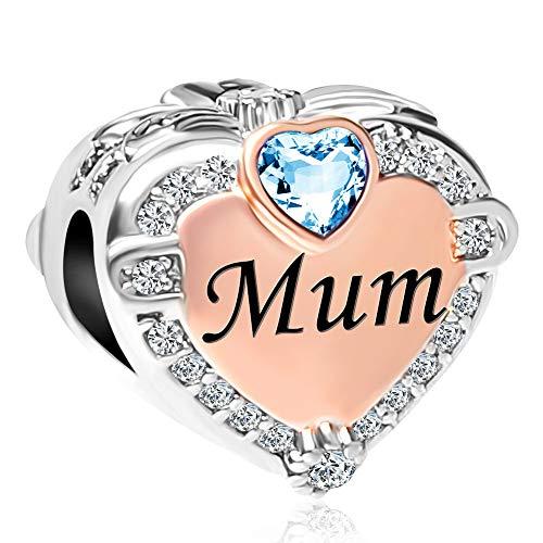 Uniqueen Rose Gold Mum Heart Cha...